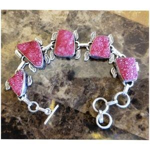 """Jewelry - Raspberry Red Druzy Bracelet 8"""""""